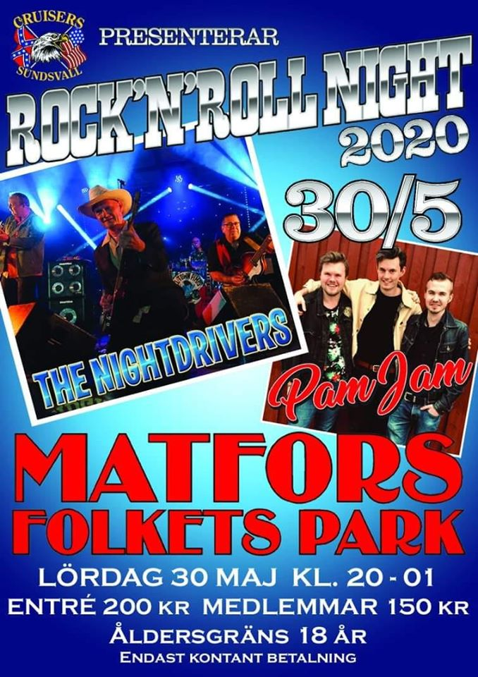 Booked for Rock'n'Roll Night 2020
