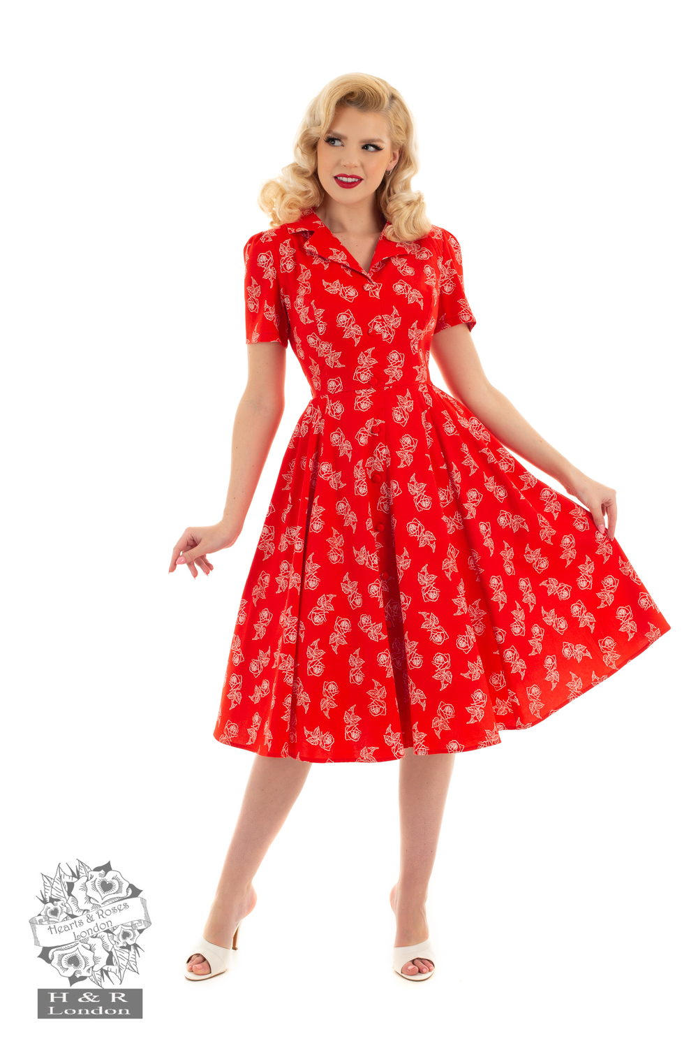 Hellbunnys Ruby rose swing dress stl XS-2XL