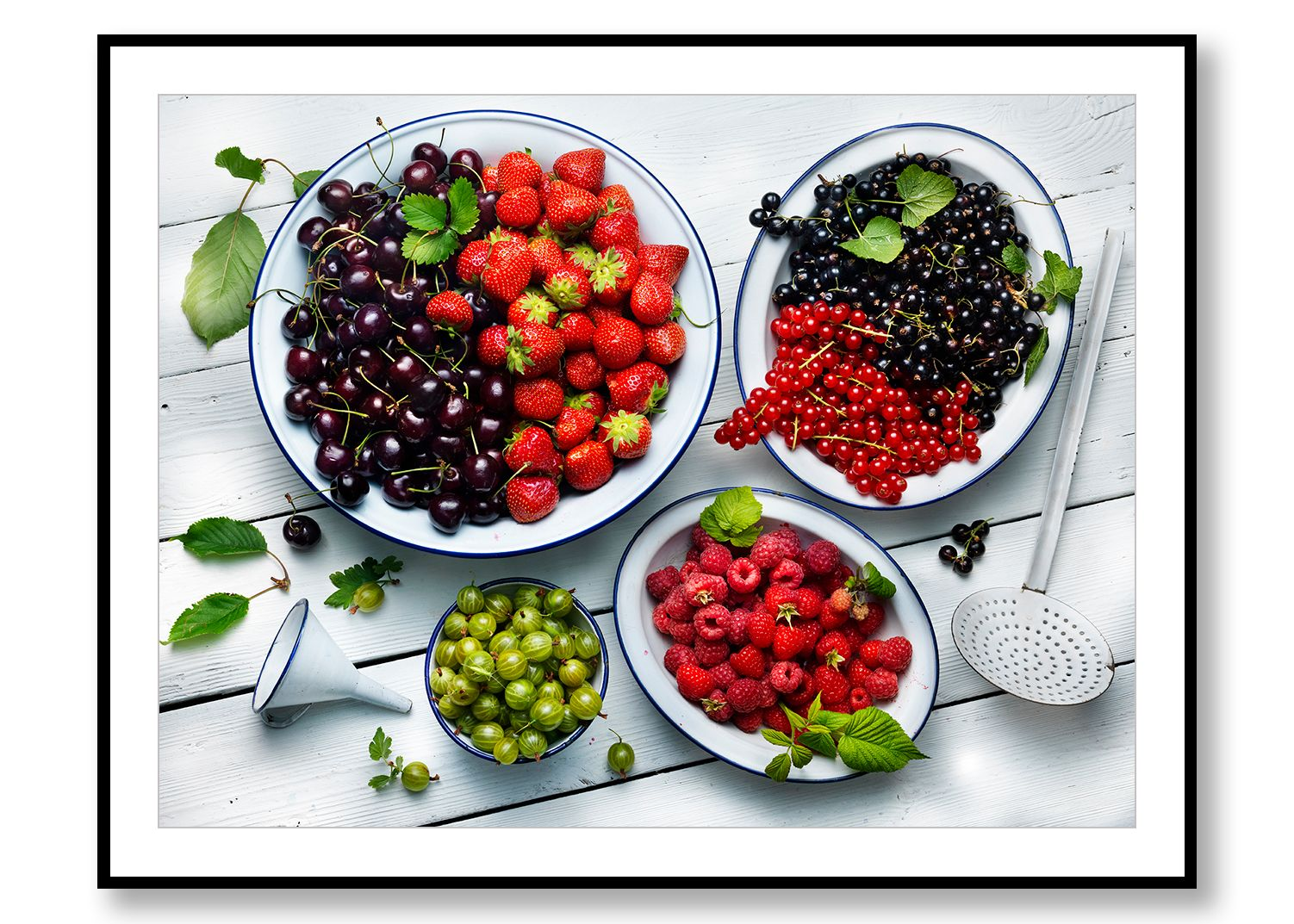 Freshly harvested summer berries. Food Art. Prints for Sale. Photo by Fredrik Rege
