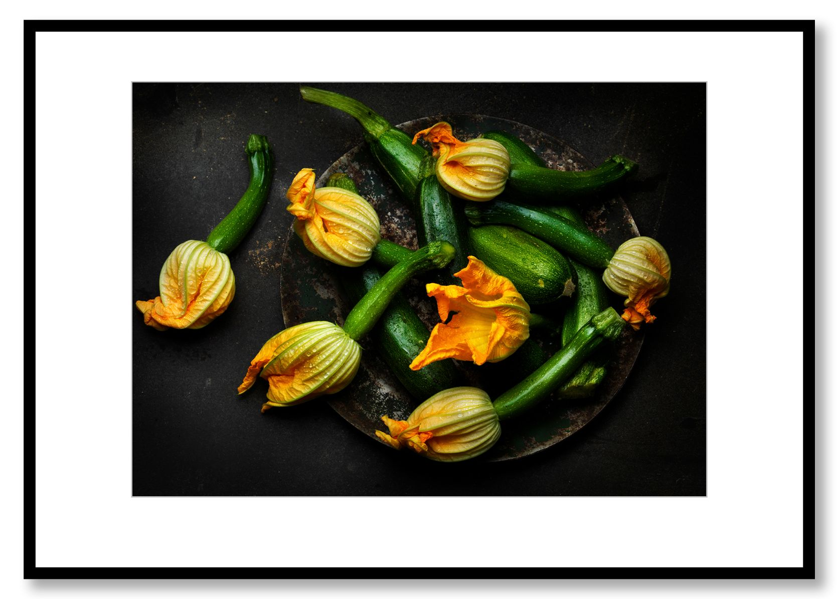 Squash Blossom. Food art. Prints for sale. Photo by Fredrik Rege