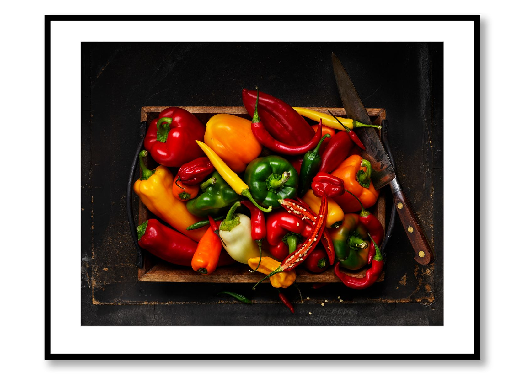Chillies & Peppers. Food Art. Prints for sale. Photo by Fredrik Rege
