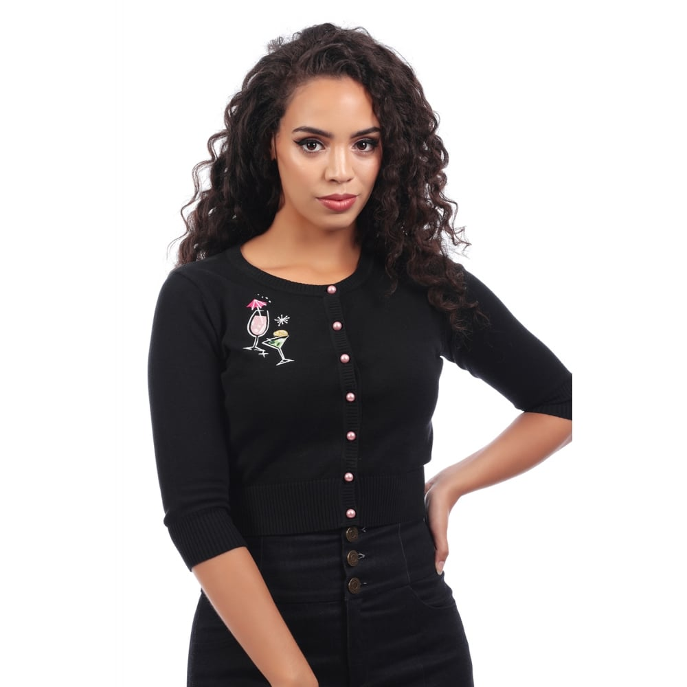 Collectif Lucy Atomic Cocktails cardigan stl XXS-4XL