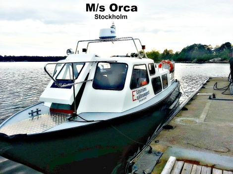 MsOrca water taxi in Stockholm