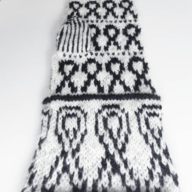 Stickmönster Knit a Tit Vantar