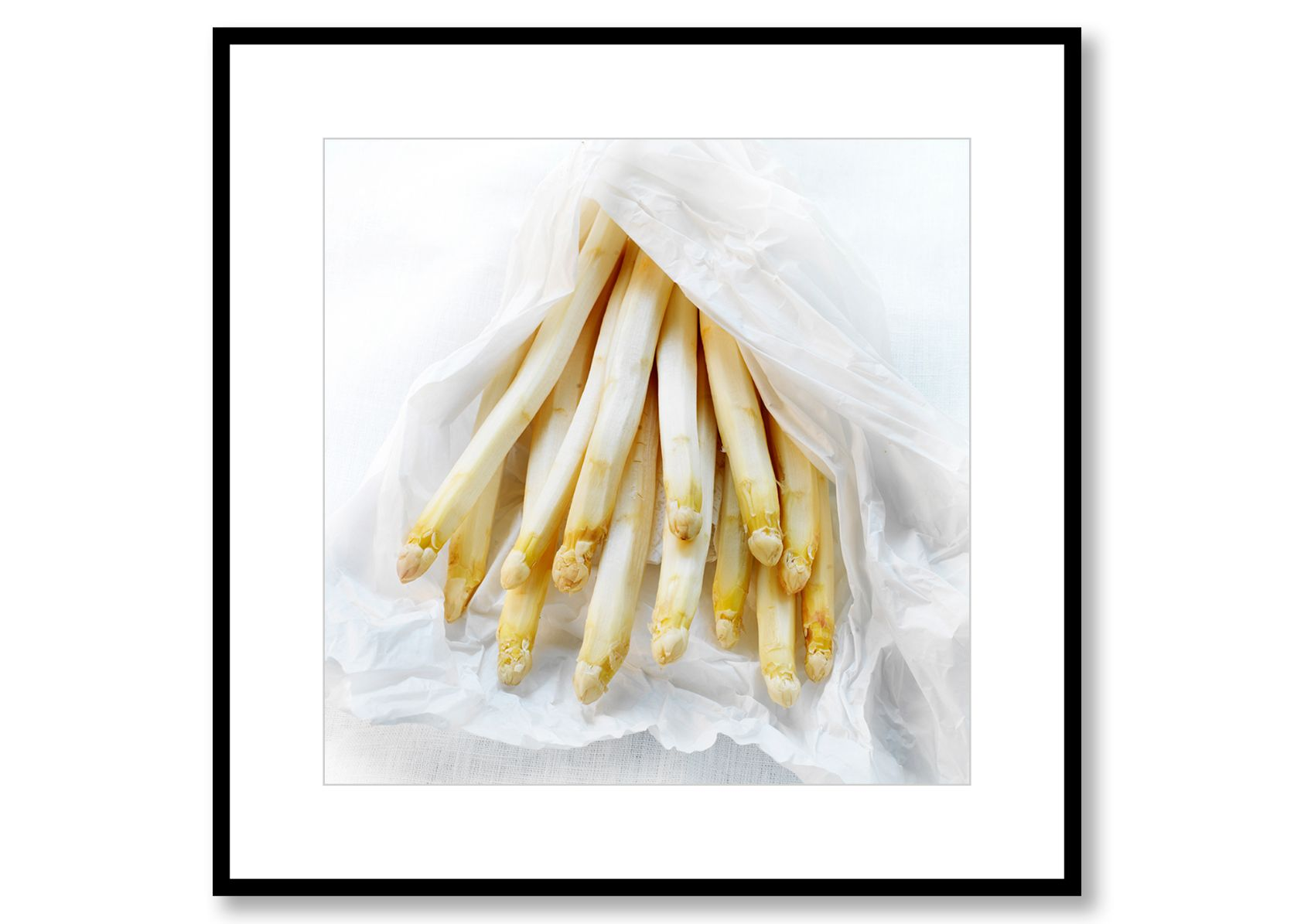 White asparagus. Food Art. Prints for sale. Photo by Fredrik Rege