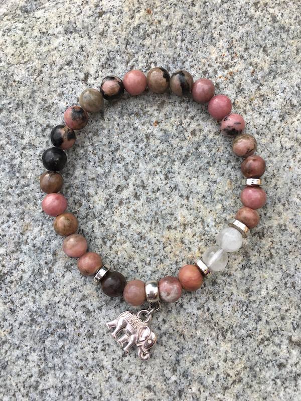 Armband - Rhodonite 6mm