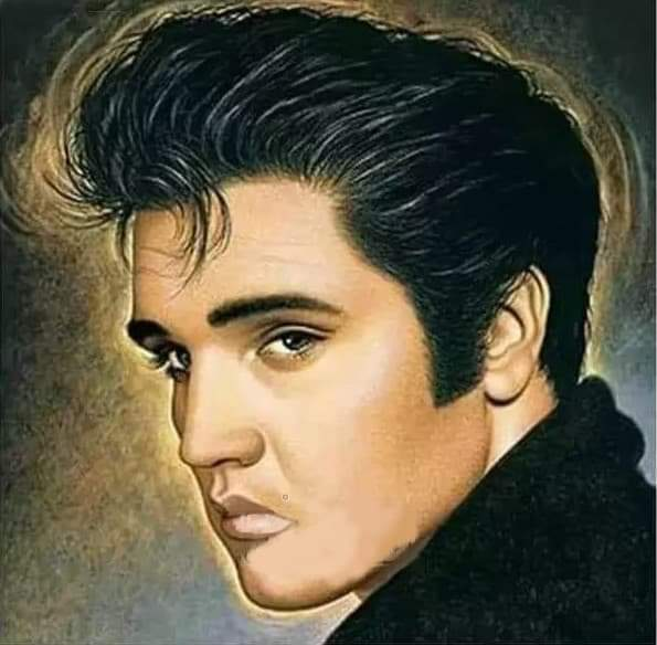 I lager diamond painting Elvis, rund 50x50cm