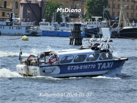 MsDiana water taxi taxi boat in Stockholm