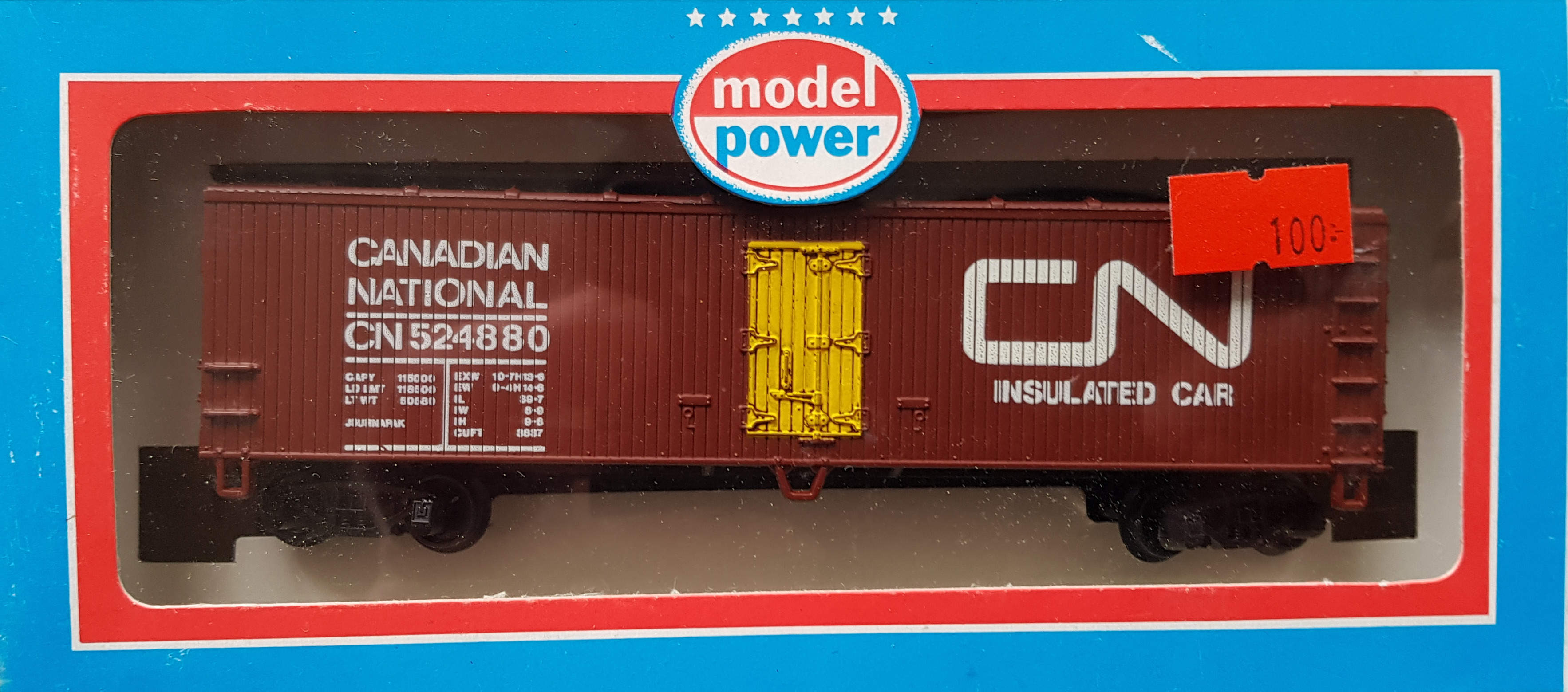 "Model Power Boxcar(godsvagn) ""Canadian National"", Kanadensisk, skala H0"