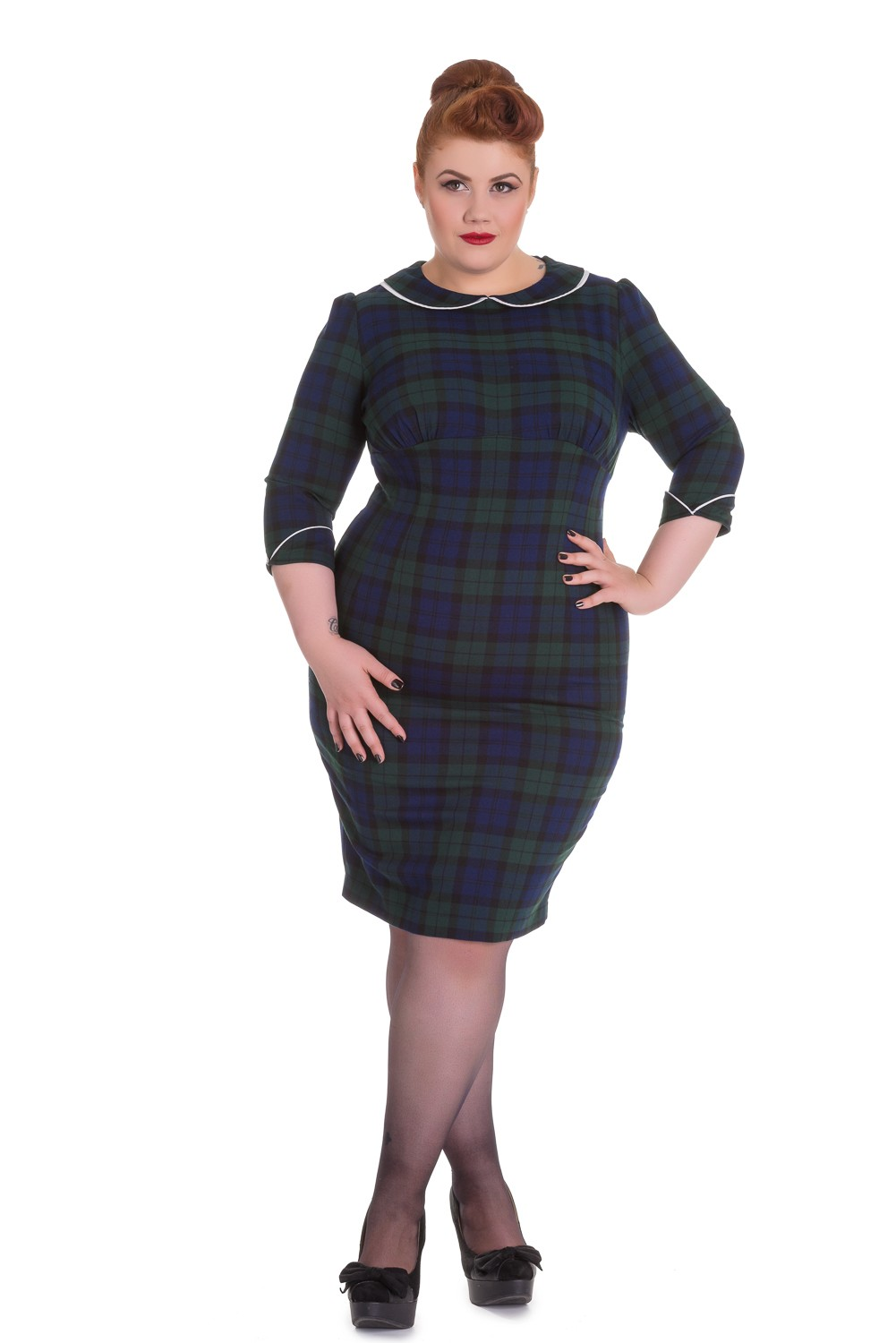 Hellbunnys Doralee pencil dress stl 2XL-4XL