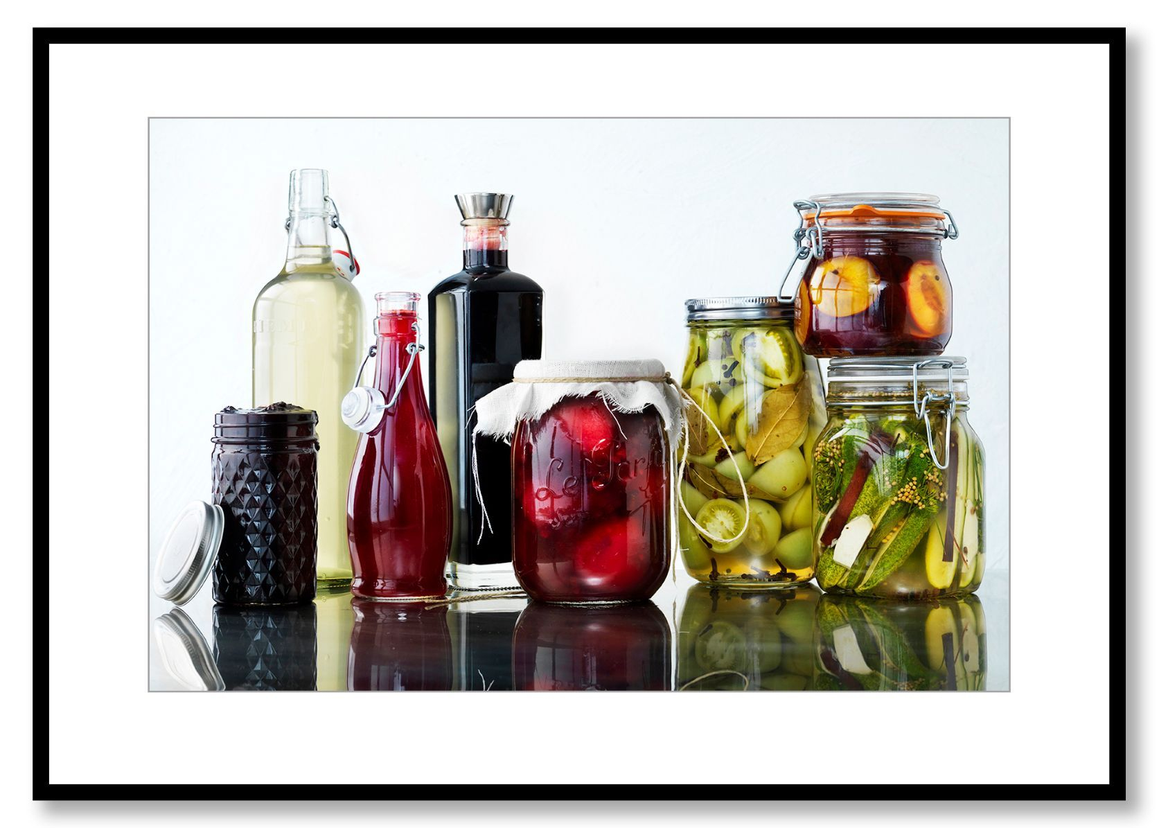 The summer bottled & canned. Food Art. Prints for sale. Photo by Fredrik Rege