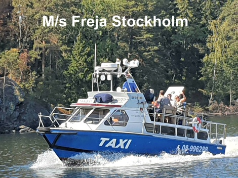 MsFreja water taxi taxi boat in Stockholm