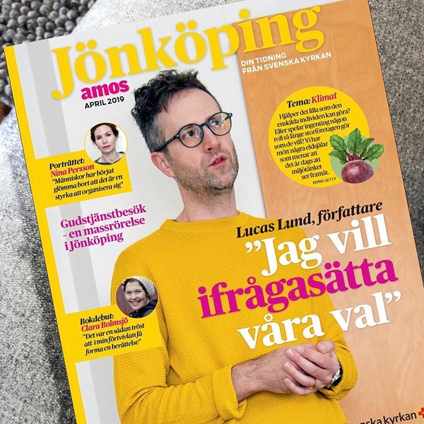 Intervju i Svenska kyrkans tidning Amos 12 april