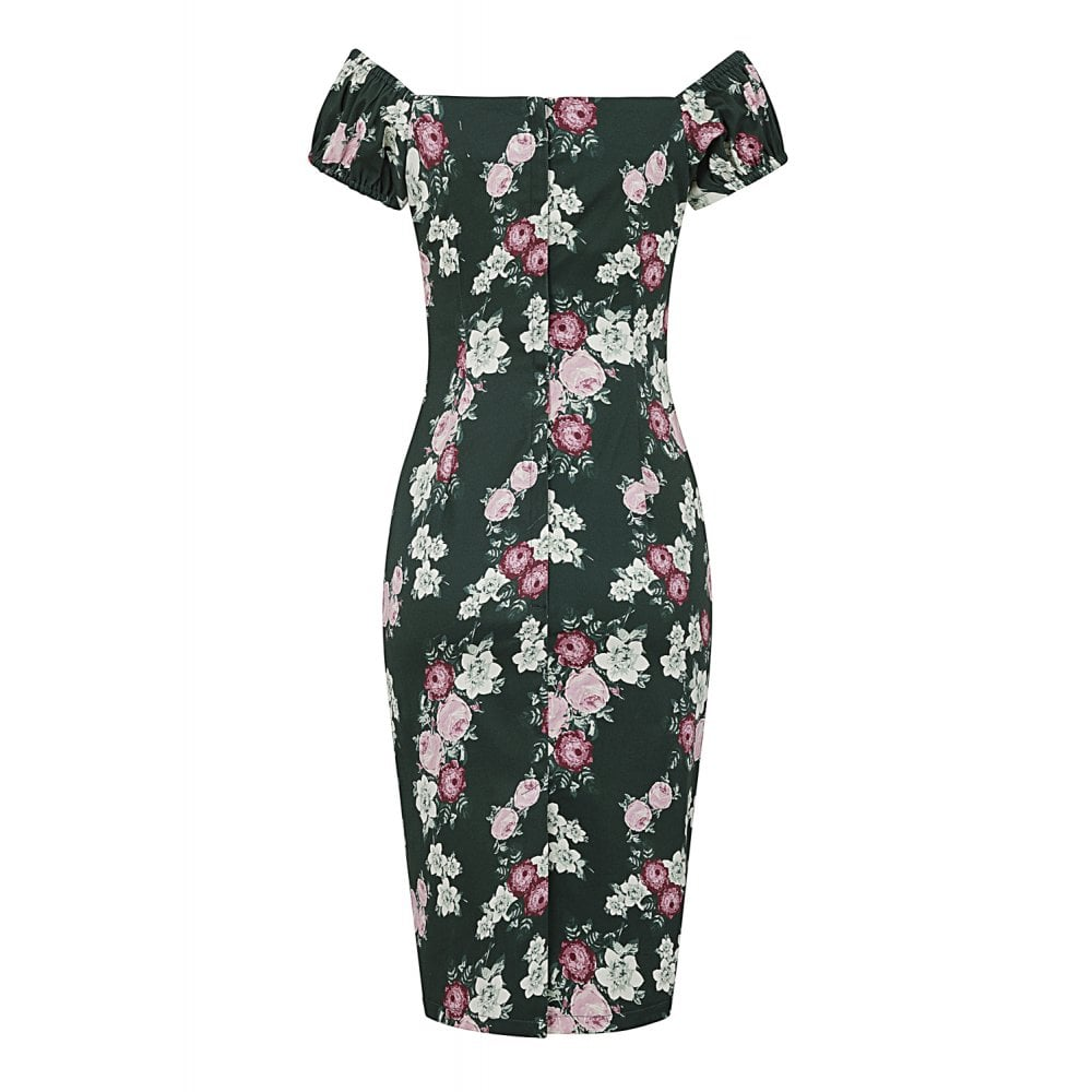 Collectifs Dolores Vintage Bloom pencil dress stl XS-4XL