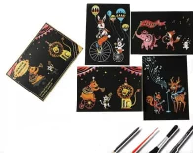 Scratch painting 4 pack cirkus