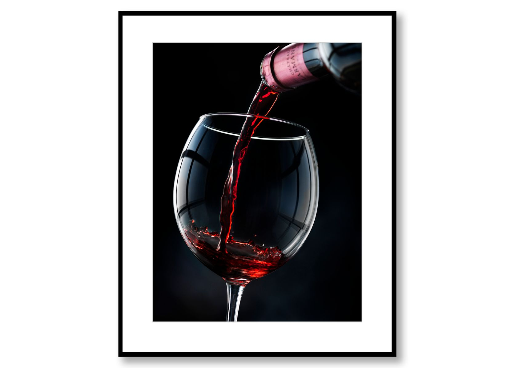 A glass of red please! Food Art. Prints for sale. Photo by Fredrik Rege