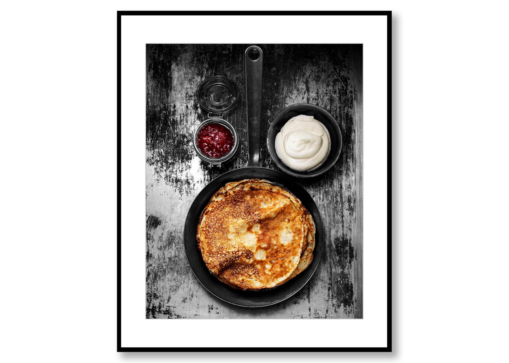 Pancakes. Food Art. Prints for sale. Photo by Fredrik Rege