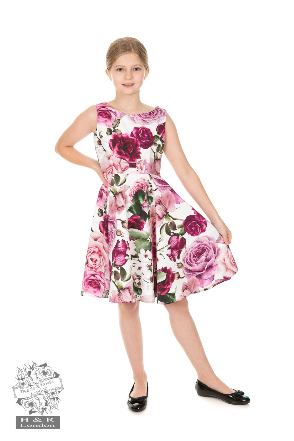 Heart&Roses Barnklänning Alice Floral swingdress stl 3-12år