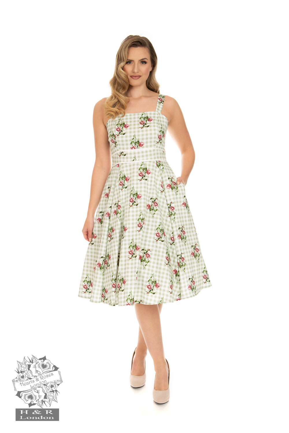 Heart&Roses  Nicole Floral swingdress stl XS-2XL