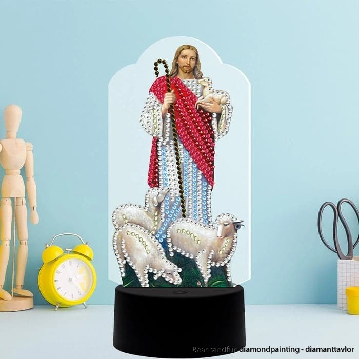 LED lampa Jesus