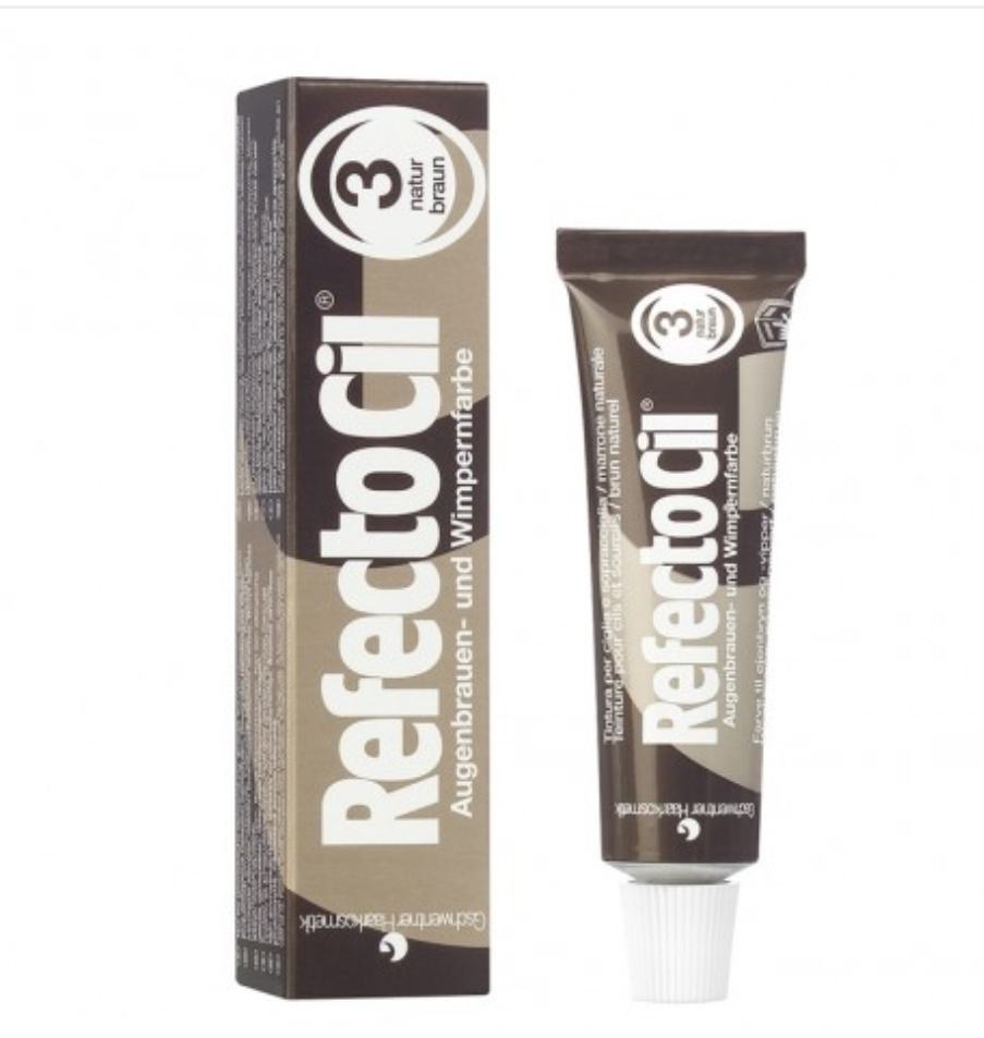 Frans / bryn färg, refectocil, natural brown 15 ml