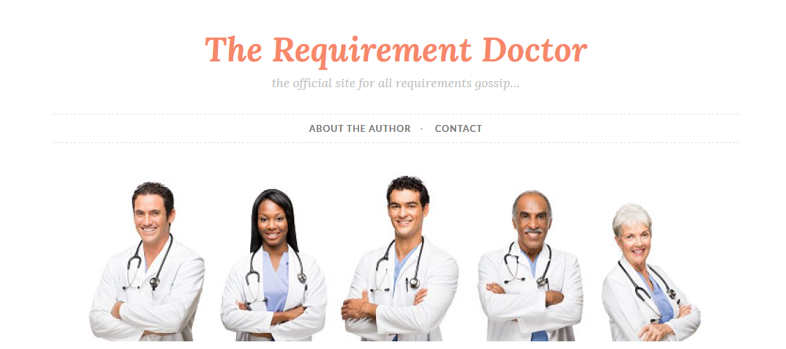 The Requirement Doctor - Our new blog on WordPress